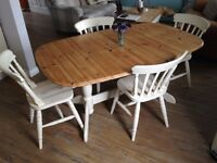 Pine shabby chic table