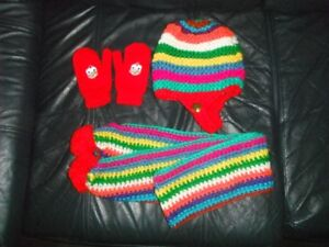 girl 9m + Winter hats, mitten, scarf, all for $3.5