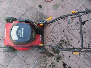 Electric lawnmower -no fumes no storing gas