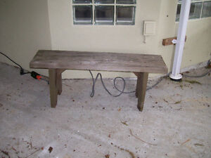 4 sturdy wooden benches  2 short 2 longer