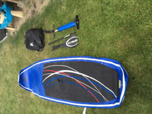 "Coral sea inflatable paddle board 10'6""and kit"