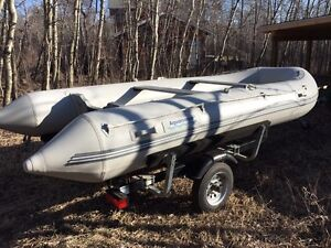 14 foot heavy guage inflatable boat complete package
