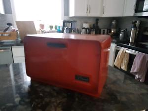 Antique rustic bread bin
