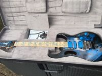 Ibanez JEM 77 Blue Floral Premium Electric Guitar Mint Condition with hardcase