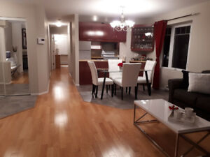 Furnished CONDO 4 1/2 for rent Laval. ACROSS CENTROPOLIS