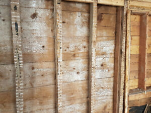 Century old barnboard and beams for sale!