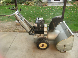 """5 HP X 26""""  SNOW MASTER BLOWER OR TRADE"""