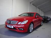 Mercedes-Benz E250 2.1CDI BlueEFFICIENCY Sport Coupe, 2010, Red, 82K