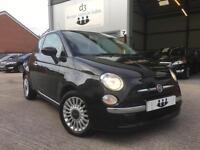 2008/08 Fiat 500 1.2 LOUNGE Crossover Black £30 Road Tax MASSIVE SPEC!