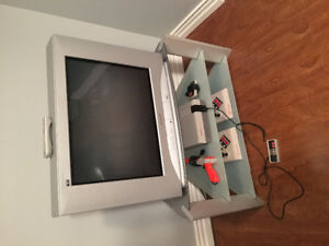 NES Nintendo games/system,TV and stand