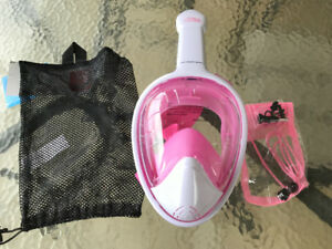 Never used-Full face snorkeling mask and snorkel-$29