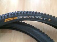 Two Continental Mountain Bike Tyers