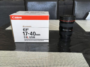 Canon EF 17-40mm f/4L USM Ultra Wide Angle Zoom Lens for Canon S