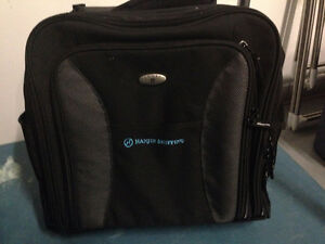 NEW OLYMPIA CARRY ON SUITCASE ROLLING TOTE