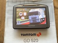 TomTom GO 520 HGV + LATEST Europe TRUCK map v971! Perfect, up-to-date September 2016!