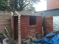 6 X 4 shed, gas BBQ - free to collector