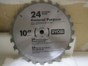 Ryobi Carbide tipped Circular Saw Blades, 10-in