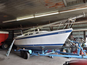 Nice clean O'Day 25 w/ motor, trailer - Great family boat!