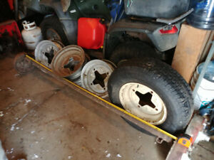 "2 Axles(E-Brake) & 15"" rims(1 Tire) for Sale $200"