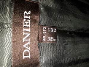 Men's Black Leather Danier Jacket