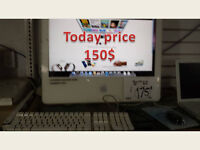 IMAC POWER PC 22 INCH 2.0 2GB 160GB 150$ regular price 175$