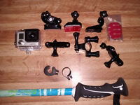 GoPro 3 with lots of mounts