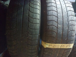 Two Michelin 275 45 20 winter tires