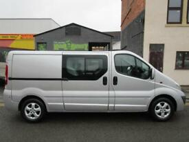 NO VAT Vauxhall Vivaro LWB 2.0CDTI Sportive 6 seat factory fitted crew cab full service history (1)