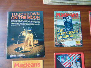 Time Magazines and News Paper on waik on the Moon London Ontario image 1