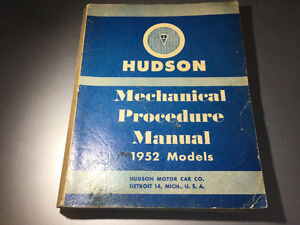 1952 Hudson Shop Manual Pacemaker Wasp Hornet Commodore 8