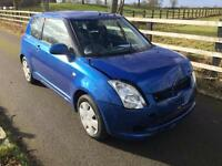 2007 Suzuki Swift 1.3 GL - UNRECORDED DAMAGE - SPARES OR REPAIR - LOW MILEAGE