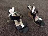 Ladies cork heeled shoes