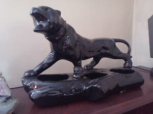 Moving - Vintage Lane Pottery Black Panther Planter