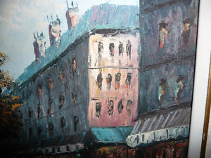 "Henry Rogers ""Paris Street, Evening"" Original Oil Painting Stratford Kitchener Area image 10"