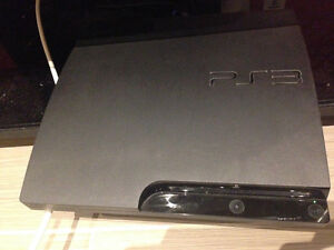 160GB SLIM PS3  with contoller and 4 games