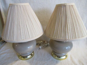 "2 matching bedside lamps (16"" tall)"