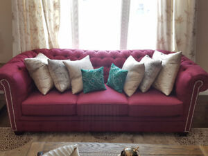 NEW Living Room Set, Sofa + 2 Arm Chairs + FREE Pillows