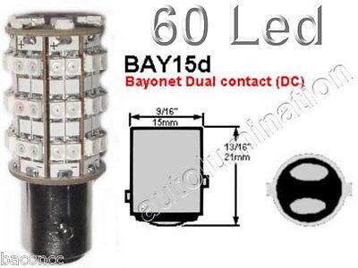 6 Volt 1154 60 Led tail brake stop light socket taillight bulbs 1130
