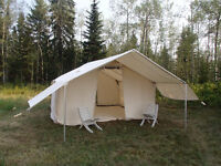 12x15 wall tent with covered front porch