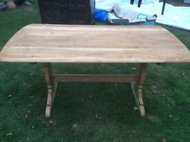 Ercol Hand Stripped Farmhouse Rustic Refectory Table