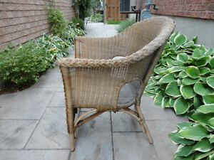 Solid Wicker Chair - Great for Sun porch, Deck, Cottage or Patio Kitchener / Waterloo Kitchener Area image 4