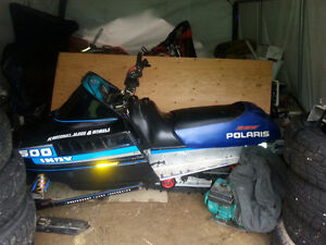 1991 polaris indy 500 sks rmk snowmobile