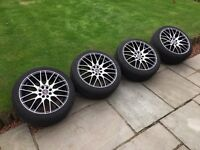 """Wolfrace Bayern 17"""" Alloys with Vredestein Ultrac Cento Tyres"""