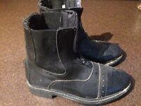 Kids riding boots