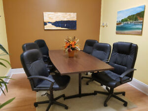 Boardroom table and chairs,