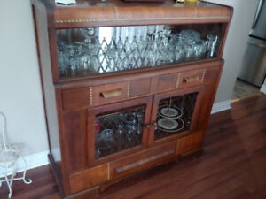 1930's Waterfall China Cabinet