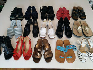 Quality Summer Sandals (13 pairs)......size 6 - 7
