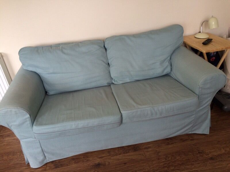 Ikea Ektorp Two 2 Seater Sofa Duck Egg Blue Green In