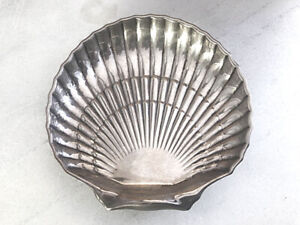 STERLING SILVER BIRKS Footed Scalloped Shell Candy Dish / Bowl