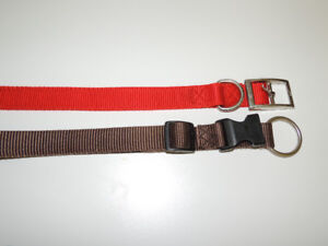 Collars - Dog - nylon 2 different styles - Larger size